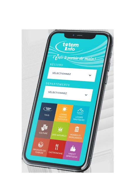 E-Totem : Retrouvez sur votre mobile l'information Tourisme locale au format digital : Points sans contact Occitanie, Nouvelle-Aquitaine et Provence-Alpes-Côte d'Azur